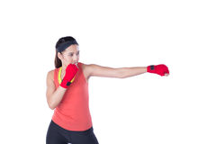 boxer-woman-boxing-exercise-isolated-white-background-41932285